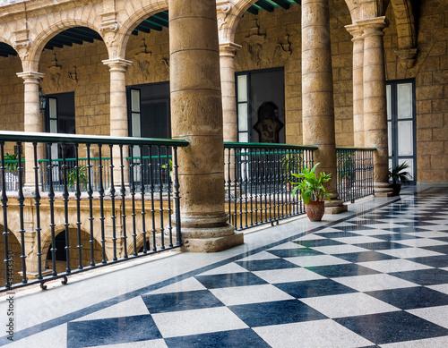 Beautiful spanish palace in Havana