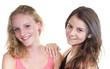 Freundinnen – blond und braun