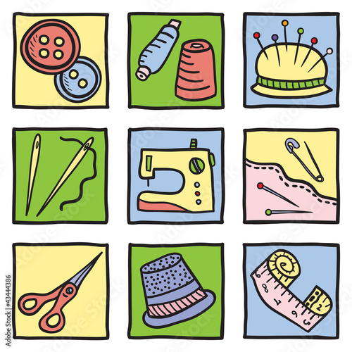 Sewing stuff and tools