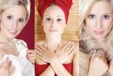 Pflege, SPA und Beauty, Hübsche Frau in Serie