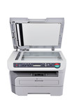 Copier with lid open