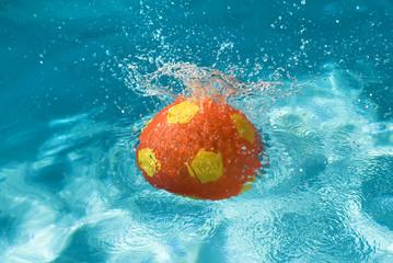Ball splashing in pool