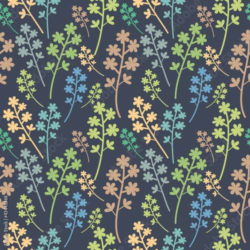 Seamless multicolored floral pattern