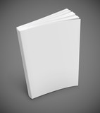 book with blank white cover