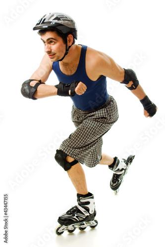 man in roller blades