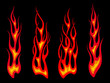 Long tribal flames