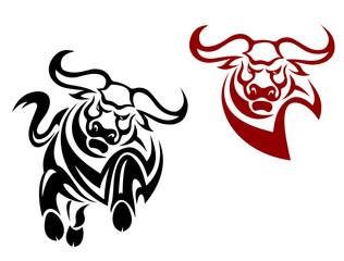 Bull and buffalo mascots