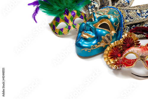 canvas print picture Mardi Gras or carnival mask on white