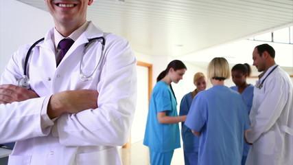 Medical team talking