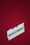 conceptual, risk of investment. poster