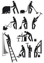 Gebäudereiniger Piktogramm