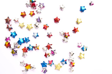 Paper star colourfull