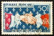 Postage stamp France 1959 French-Spanish Handshake