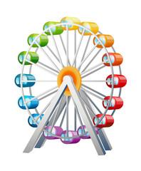 vector icon ferris wheel