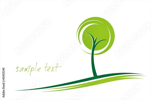 tree, grass ,green Eco friendly business logo design