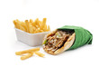 KEBAB SANDWICH WITH CHIPS