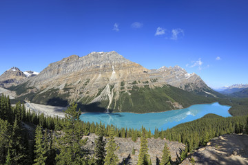 Mountain Peyto lake