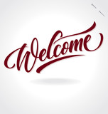 Fototapety 'welcome' hand lettering (vector)