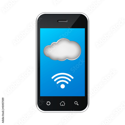 Phone with cloud service