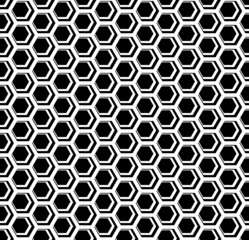 Seamless hexagons cellular texture. Honeycomb motif.