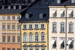 Old houses facades in Stockholm