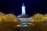 Town Hall on the Main Market in Bialystok, Poland.