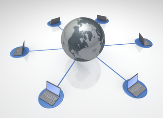 Computer linked Global Network 3D