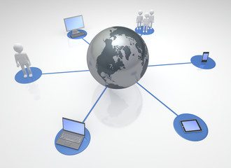 Global Network of Information Devices and People 3D