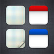 Square paper app template icons.