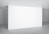 Fototapety Interior with empty white wall, place for a image.