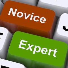 Novice Expert Keys Show Amateur Or Professional