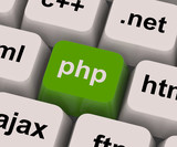 Php Programming Key Shows Internet Development Language