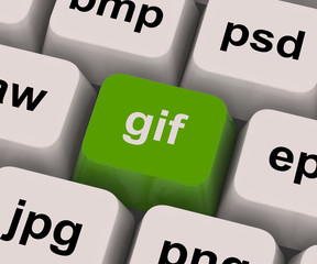 Gif Key Shows Image Format For Internet Pictures