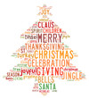 Christmas tree word clouds in white background