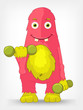 Funny Monster. Gym.