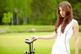Woman and golf