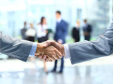 Fototapety Business handshake and business people