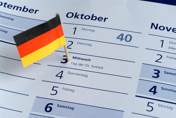 3.10.2012, Tag der Deutschen Einheit, Feiertag, Nationalfeiertag
