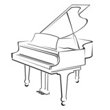 piano outlines