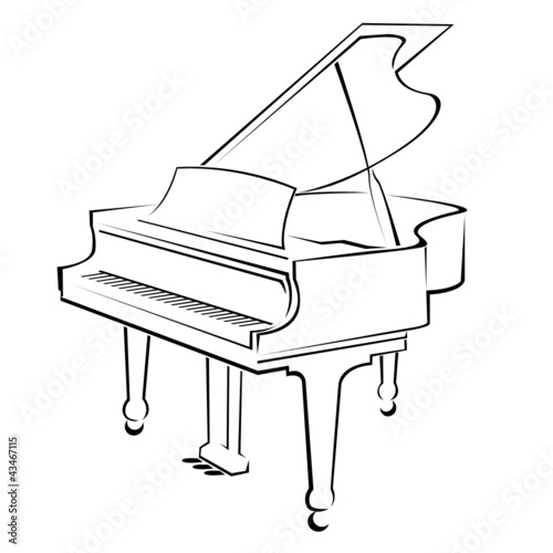 Line Art Keyboard : The gallery for gt piano keyboard sketch