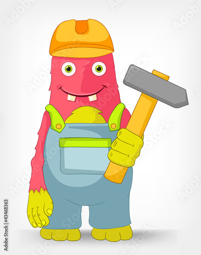 Funny Monster. Contractor.