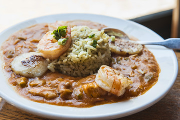 Gumbo with Chicken, Seafood & Sausage
