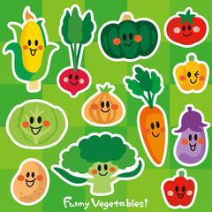 笑顔の野菜たち