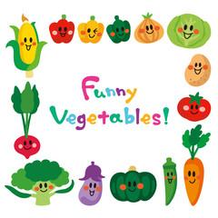 笑顔の野菜たち フレーム