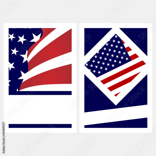 United States colors. Election posters with copy space