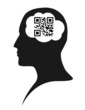 The word brain in QR code