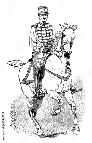 Rider 19th century - Militaria
