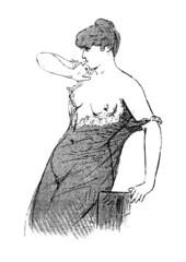 Déshabillé - 19th century