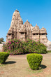 Ornate temple made ​​of sandstone in Khajuraho, India