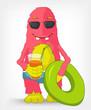 Funny Monster. Beach.